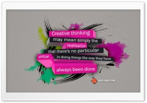 Creative Thinking HD Wide Wallpaper for Widescreen