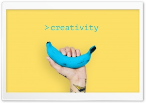 Creativity Banana Ultra HD Wallpaper for 4K UHD Widescreen desktop, tablet & smartphone