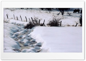 Creek Winter HD Wide Wallpaper for Widescreen