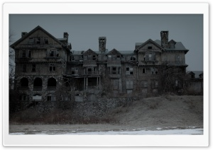 Creepy House HD Wide Wallpaper for Widescreen