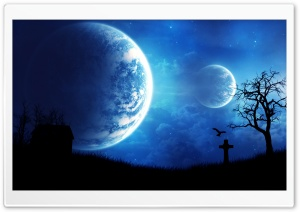 Creepy Night HD Wide Wallpaper for Widescreen