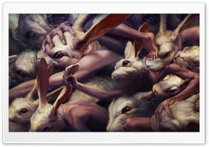 Creepy Rabbits Artwork HD Wide Wallpaper for 4K UHD Widescreen desktop & smartphone