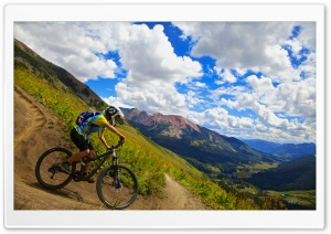 Crested Butte Biking HD Wide Wallpaper for 4K UHD Widescreen desktop & smartphone