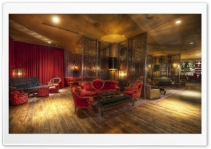 Crimson Lounge In Chicago HD Wide Wallpaper for Widescreen
