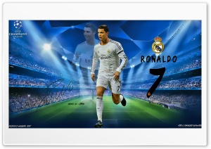 Cristiano Ronaldo Champions League HD Wide Wallpaper for Widescreen