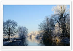 Crooked Rhine River   Winter HD Wide Wallpaper for Widescreen