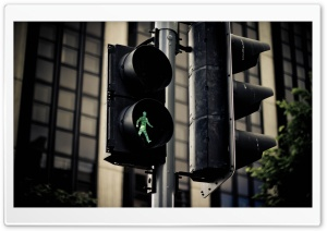 Crosswalk Man HD Wide Wallpaper for Widescreen