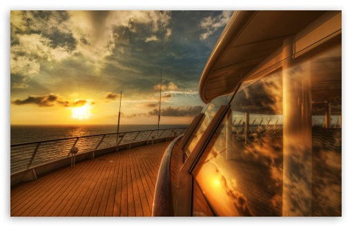 Cruise Ship Deck, Sunset HD wallpaper for Wide 16:10 5:3 Widescreen WHXGA WQXGA WUXGA WXGA WGA ; HD 16:9 High Definition WQHD QWXGA 1080p 900p 720p QHD nHD ; Standard 4:3 5:4 3:2 Fullscreen UXGA XGA SVGA QSXGA SXGA DVGA HVGA HQVGA devices ( Apple PowerBook G4 iPhone 4 3G 3GS iPod Touch ) ; Tablet 1:1 ; iPad 1/2/Mini ; Mobile 4:3 5:3 3:2 16:9 5:4 - UXGA XGA SVGA WGA DVGA HVGA HQVGA devices ( Apple PowerBook G4 iPhone 4 3G 3GS iPod Touch ) WQHD QWXGA 1080p 900p 720p QHD nHD QSXGA SXGA ;