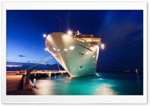 Cruise Ship Port HD Wide Wallpaper for Widescreen