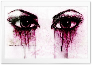 Crying Eyes HD Wide Wallpaper for Widescreen