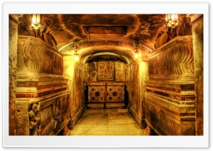 Crypt In Rome, Italy HD Wide Wallpaper for Widescreen