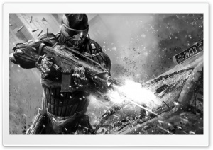 Crysis 2 BW HD Wide Wallpaper for Widescreen