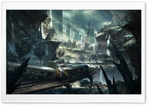 Crysis 2 New York City Artwork HD Wide Wallpaper for Widescreen