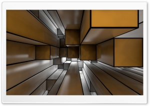 Cube Room 3D Ultra HD Wallpaper for 4K UHD Widescreen desktop, tablet & smartphone
