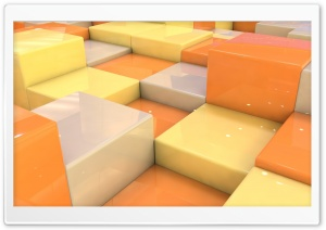 Cubes With Fantastic Reflections HD Wide Wallpaper for Widescreen