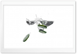 Cucumber Slices in Water Ultra HD Wallpaper for 4K UHD Widescreen desktop, tablet & smartphone