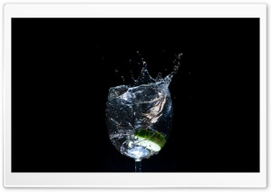 Cucumber Splash HD Wide Wallpaper for Widescreen