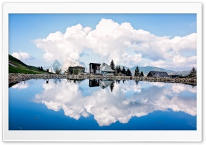 Cumulus Clouds Reflection HD Wide Wallpaper for Widescreen
