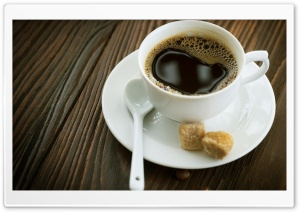 Cup Of Coffee And Sugar Cubes HD Wide Wallpaper for 4K UHD Widescreen desktop & smartphone
