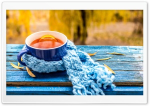 Cup of Tea, Autumn HD Wide Wallpaper for 4K UHD Widescreen desktop & smartphone