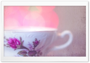 Cup of Tea Bokeh HD Wide Wallpaper for Widescreen