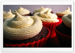 Cupcakes With Cream HD Wide Wallpaper for 4K UHD Widescreen desktop & smartphone