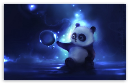 Download Curious Panda Painting HD Wallpaper