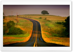 Curved Road HD Wide Wallpaper for Widescreen
