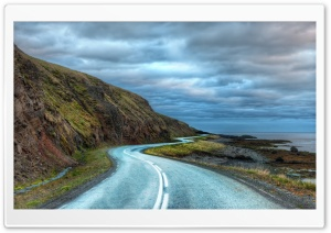 Curvy Road Around Iceland HD Wide Wallpaper for Widescreen