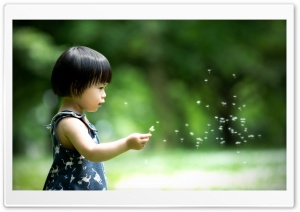 Cute Asian Little Girl HD Wide Wallpaper for Widescreen
