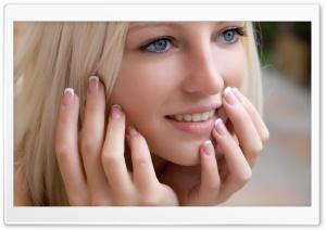 Cute Blond Girl Smilling Ultra HD Wallpaper for 4K UHD Widescreen desktop, tablet & smartphone