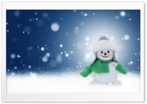 Cute Christmas Snowman HD Wide Wallpaper for Widescreen