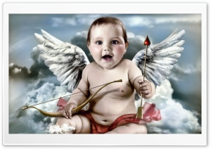 Cute Cupid HD Wide Wallpaper for Widescreen