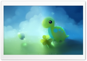 Cute Dino HD Wide Wallpaper for Widescreen