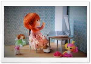 Cute Doll HD Wide Wallpaper for 4K UHD Widescreen desktop & smartphone