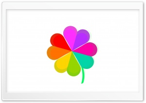 Cute Four Leaf Clover Rainbow Ultra HD Wallpaper for 4K UHD Widescreen desktop, tablet & smartphone