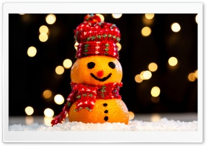 Cute Funny Snowman, Happy Christmas 2019 Ultra HD Wallpaper for 4K UHD Widescreen desktop, tablet & smartphone