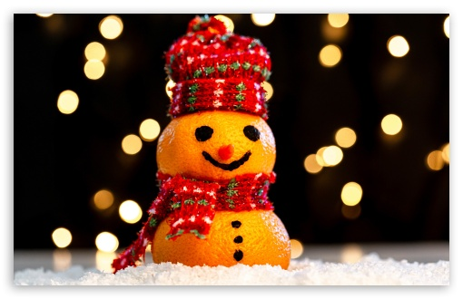 Download Cute Funny Snowman, Happy Christmas 2019 UltraHD Wallpaper