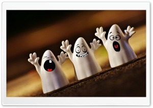 Cute Ghosts, Halloween Ultra HD Wallpaper for 4K UHD Widescreen desktop, tablet & smartphone