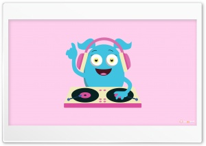 Cute Girly Monster DJ HD Wide Wallpaper for Widescreen