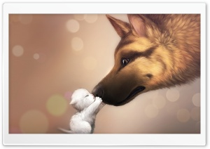 Cute Kiss HD Wide Wallpaper for Widescreen