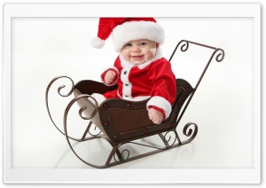 Cute Little Santa HD Wide Wallpaper for Widescreen