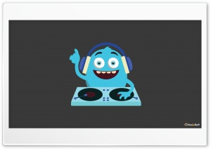 Cute Monster DJ HD Wide Wallpaper for Widescreen
