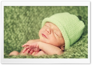 Cute Newborn Baby Ultra HD Wallpaper for 4K UHD Widescreen desktop, tablet & smartphone