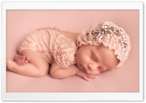 Cute Newborn Baby Girl Ultra HD Wallpaper for 4K UHD Widescreen desktop, tablet & smartphone