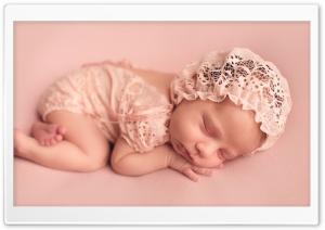 Cute Newborn Baby Girl HD Wide Wallpaper for 4K UHD Widescreen desktop & smartphone