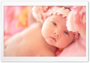 Cute Newborn Baby Girl - Sofia HD Wide Wallpaper for Widescreen