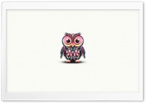 Cute Owl Illustration HD Wide Wallpaper for Widescreen