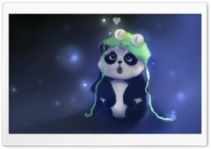 Cute Panda Painting HD Wide Wallpaper for Widescreen