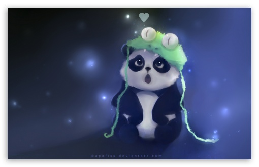 cute panda painting wallpaper - photo #4